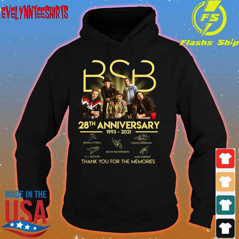 BSB 28TH Anniversary 1993 2021 thank You for the memories signatures hoodie