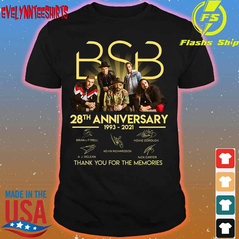 BSB 28TH Anniversary 1993 2021 thank You for the memories signatures shirt