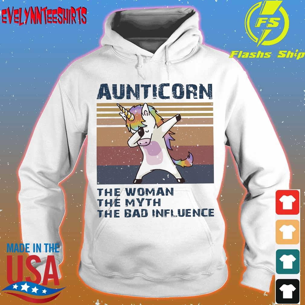Aunticorn the Woman the myth the bad influence vintage Shirt hoodie