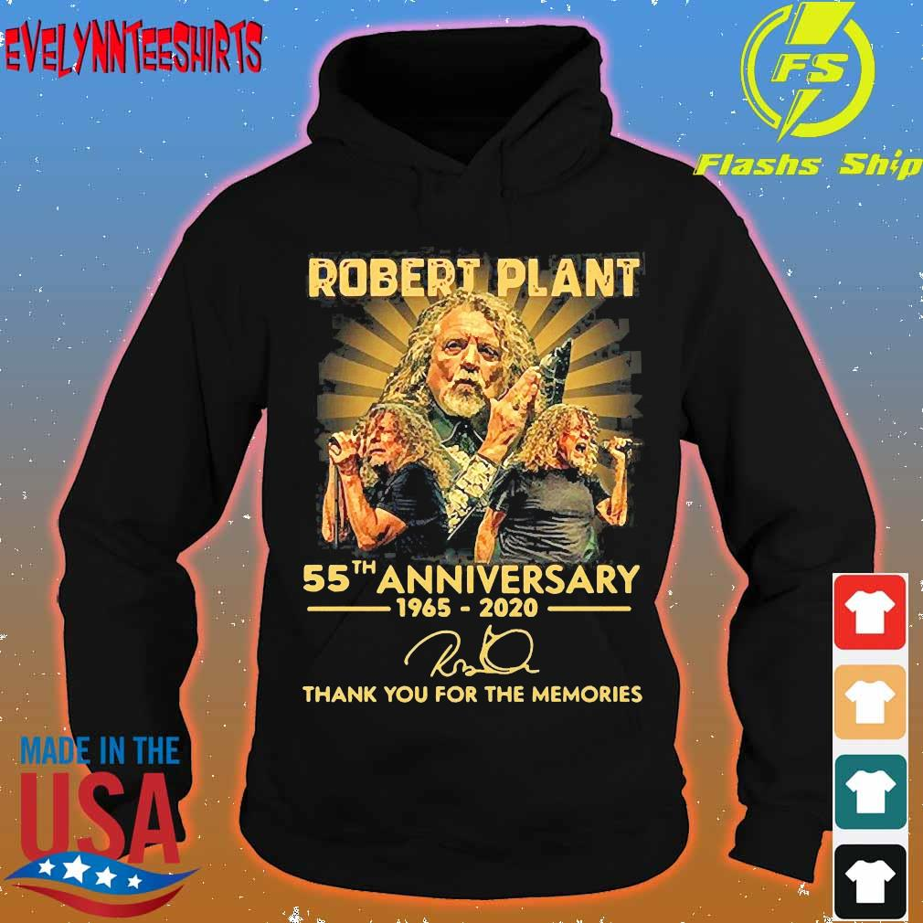 Robert Plant 55th anniversary 1965 2020 thank You for the memories signature Shirt hoodie