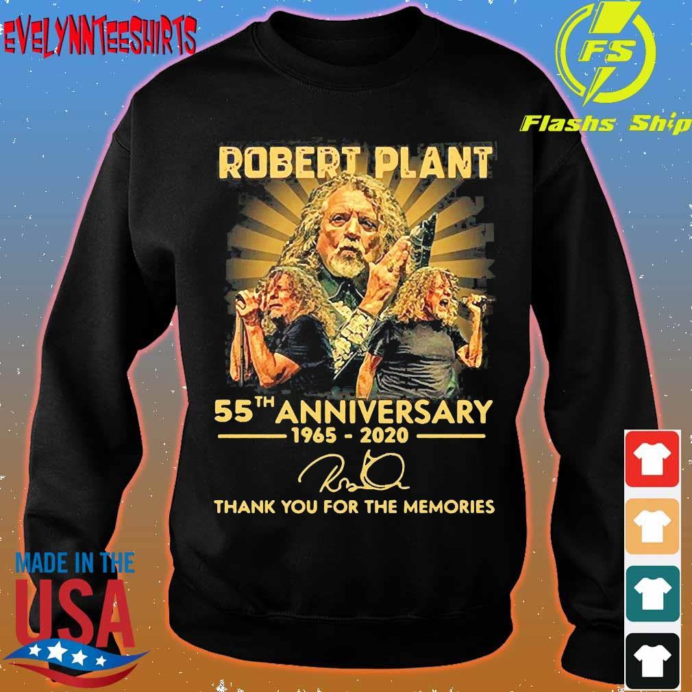 Robert Plant 55th anniversary 1965 2020 thank You for the memories signature Shirt sweater