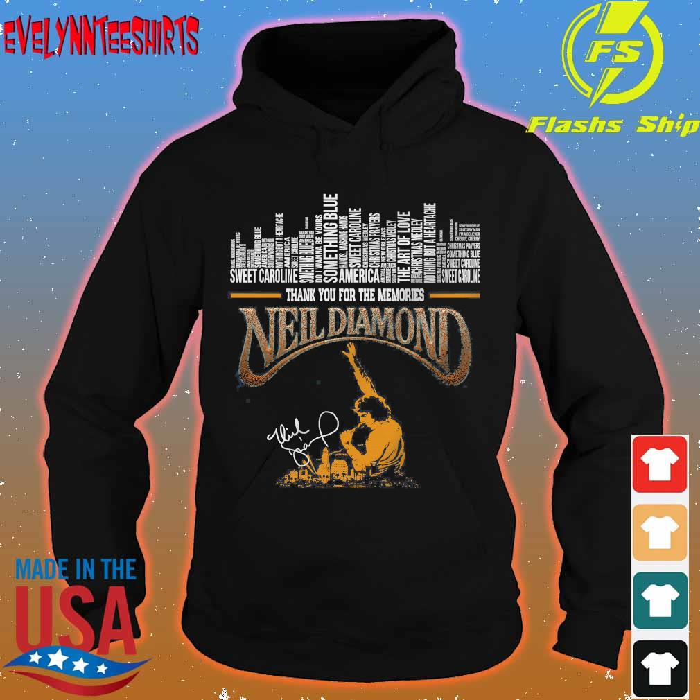 Thank You for the memories Neil Diamond signature Shirt hoodie