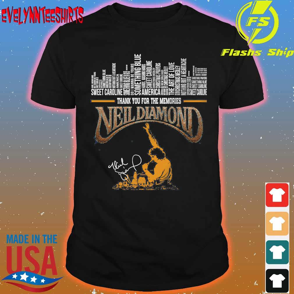 Thank You for the memories Neil Diamond signature Shirt