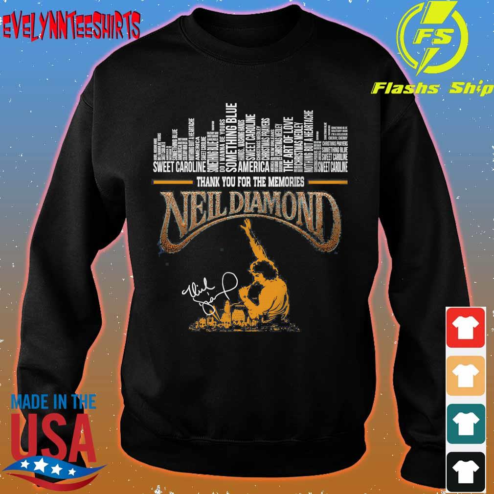 Thank You for the memories Neil Diamond signature Shirt sweater