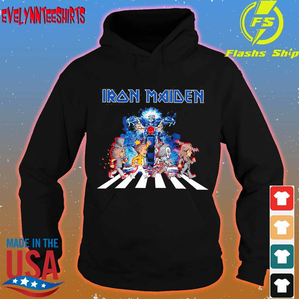 Iron Maiden band members abbey road s hoodie