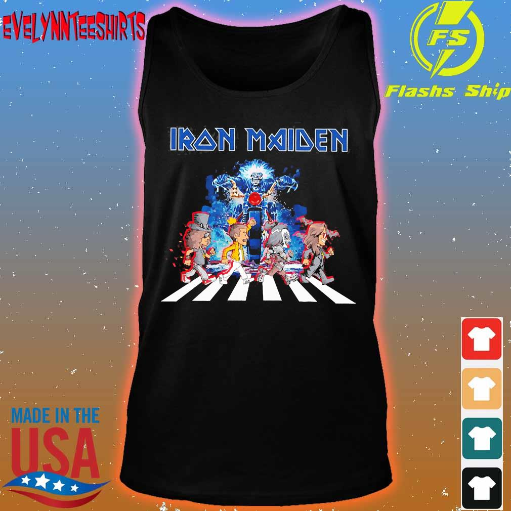 Iron Maiden band members abbey road s tank top