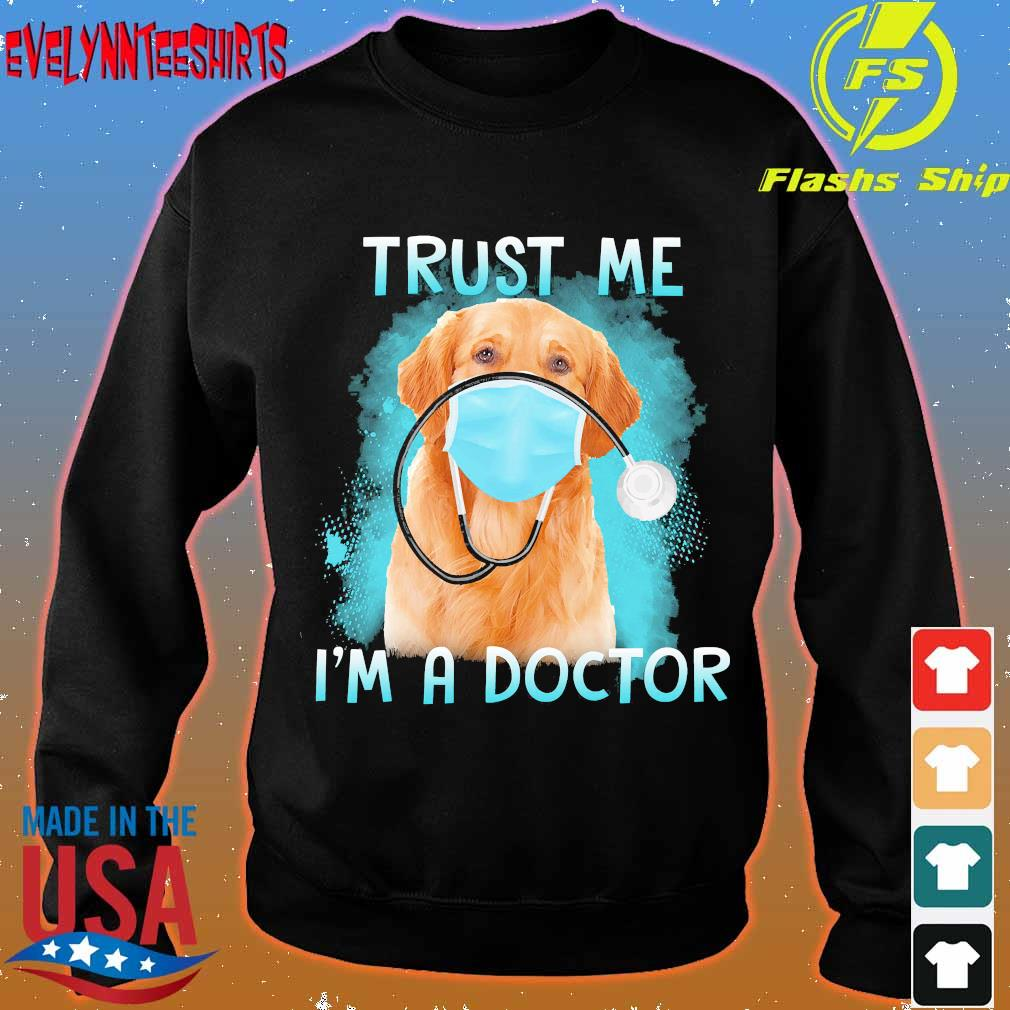 Labrador face mask trust me I'm a doctor s sweater