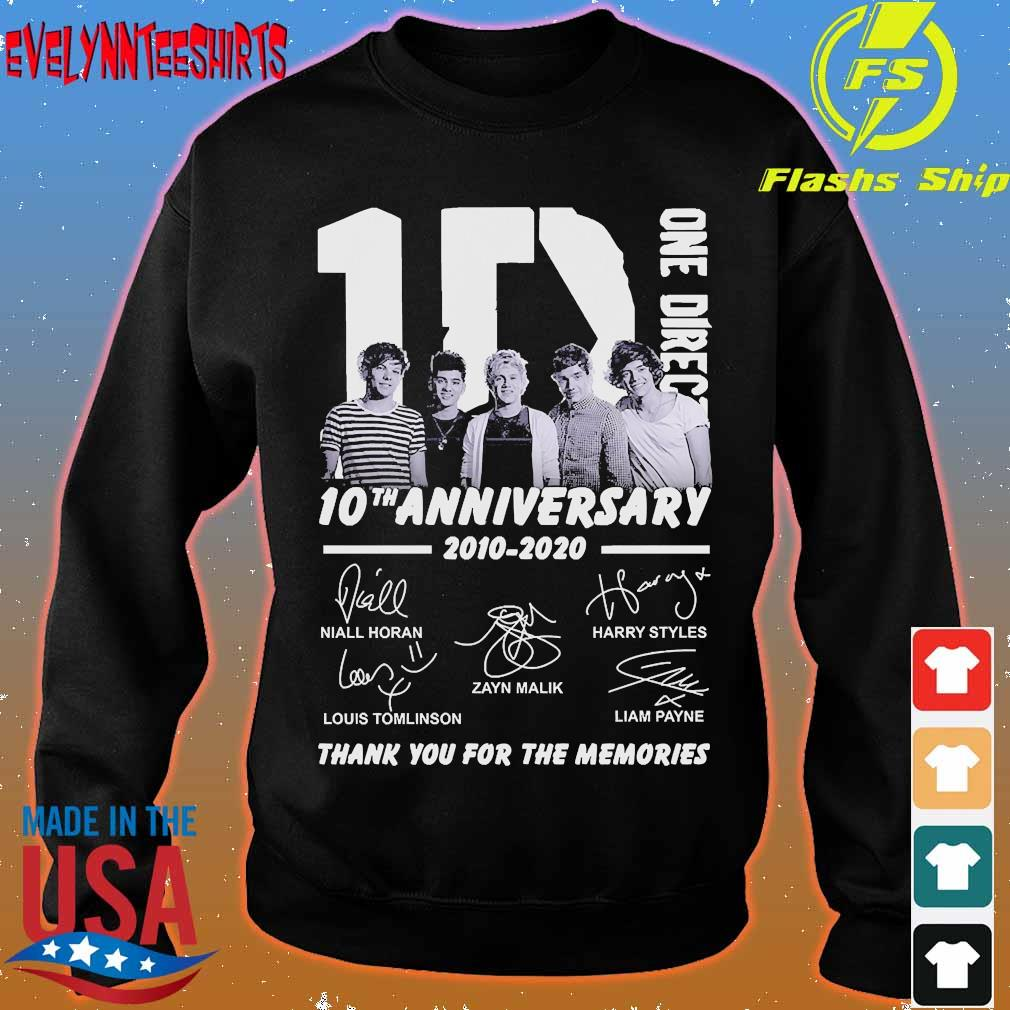 One Direction 10th anniversary 2010 2020 thank You for the memories signatures s sweater