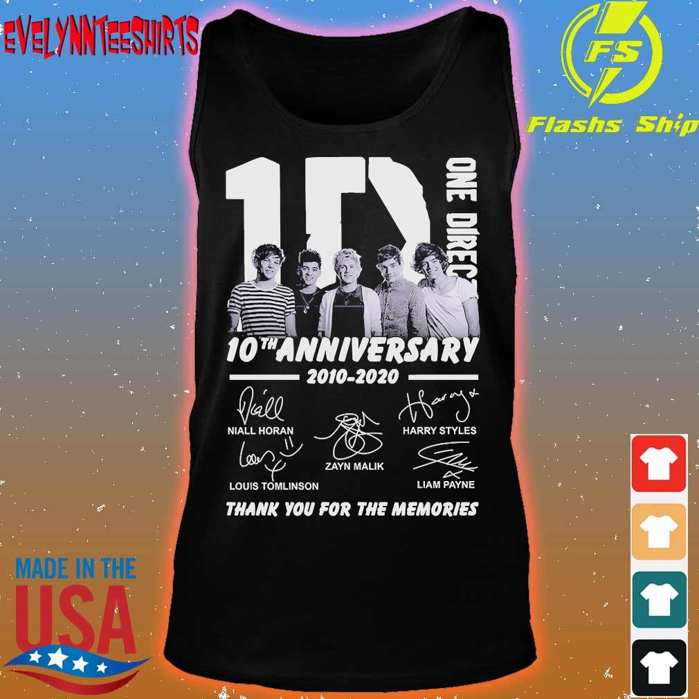 One Direction 10th anniversary 2010 2020 thank You for the memories signatures s tank top