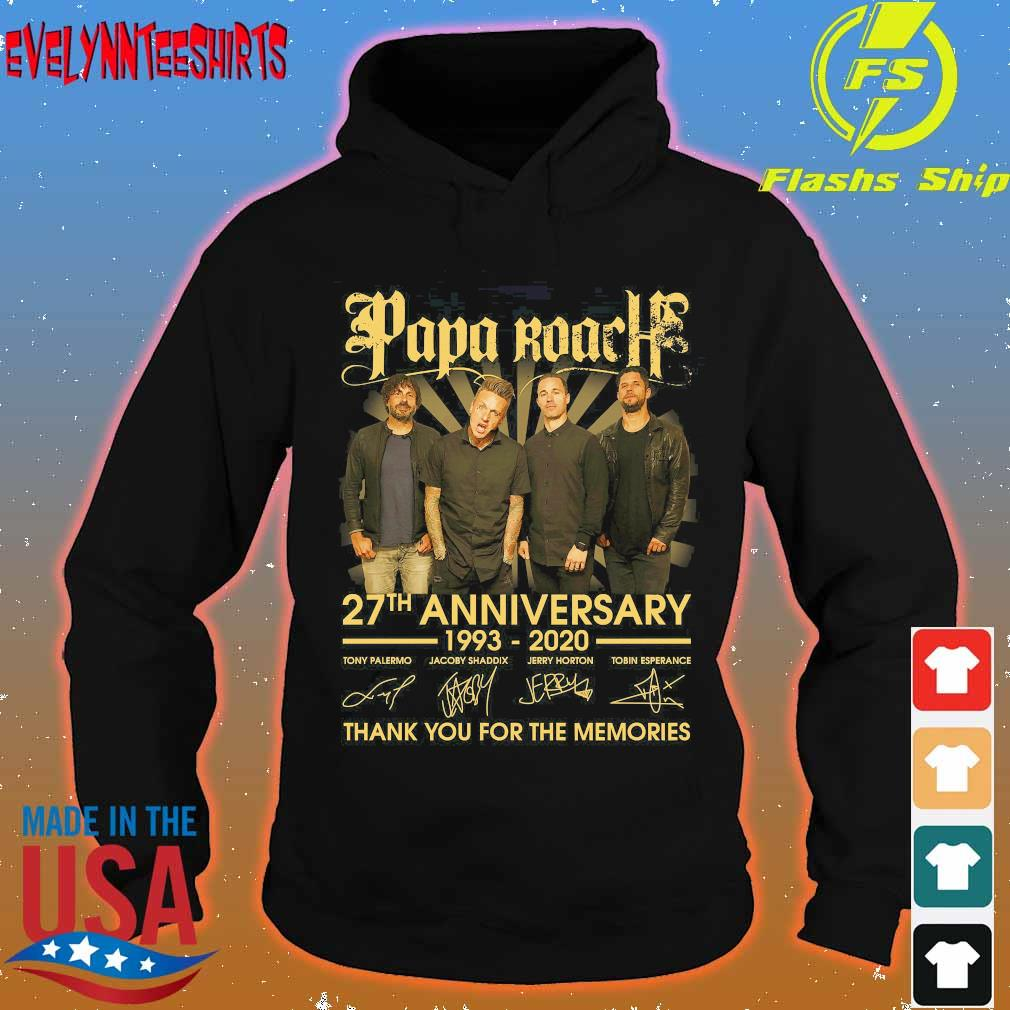 Papa Roach 27th anniversary 1993 2020 thank You for the memories signatures s hoodie