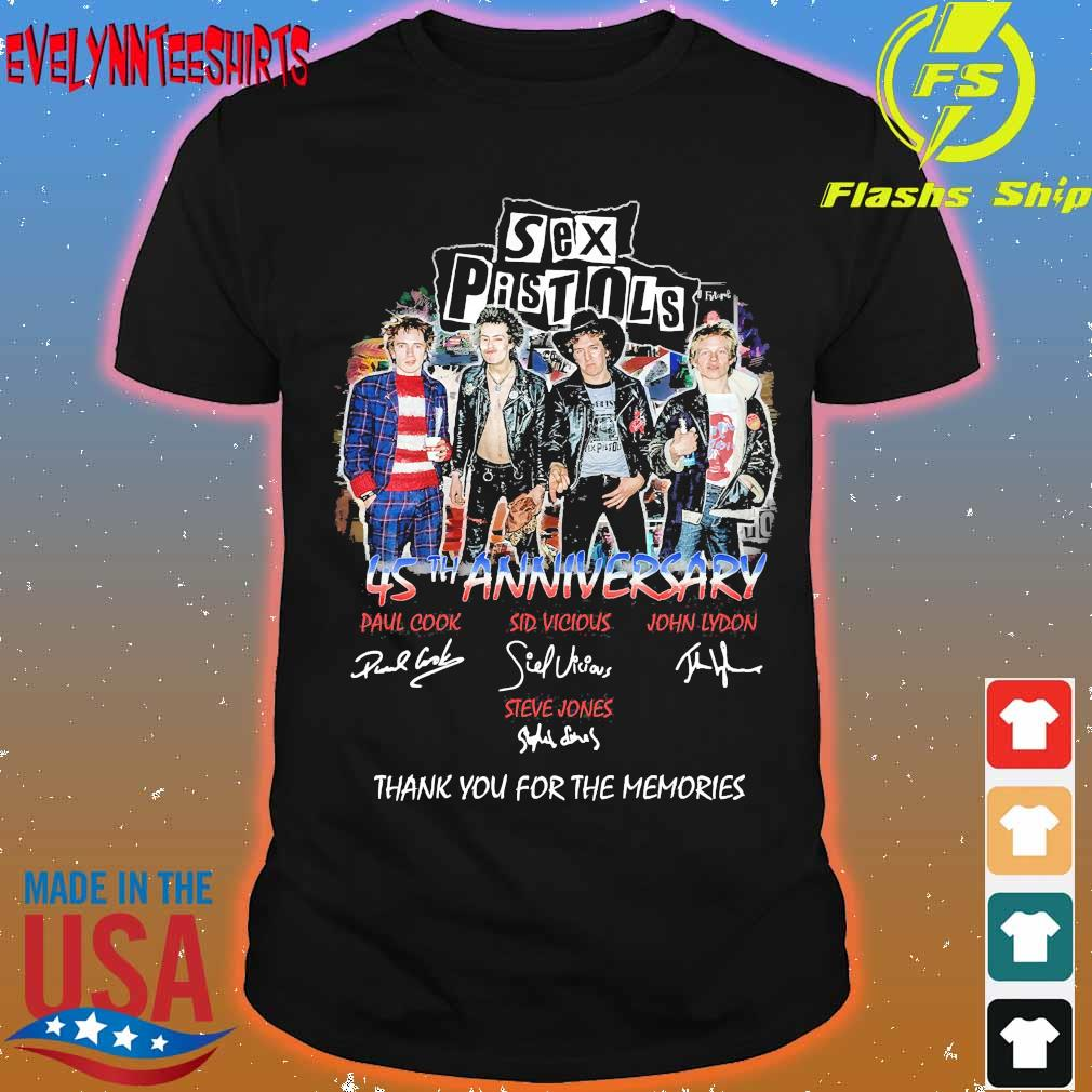 Sex Pistols 45th anniversary You for the memories signatures shirt