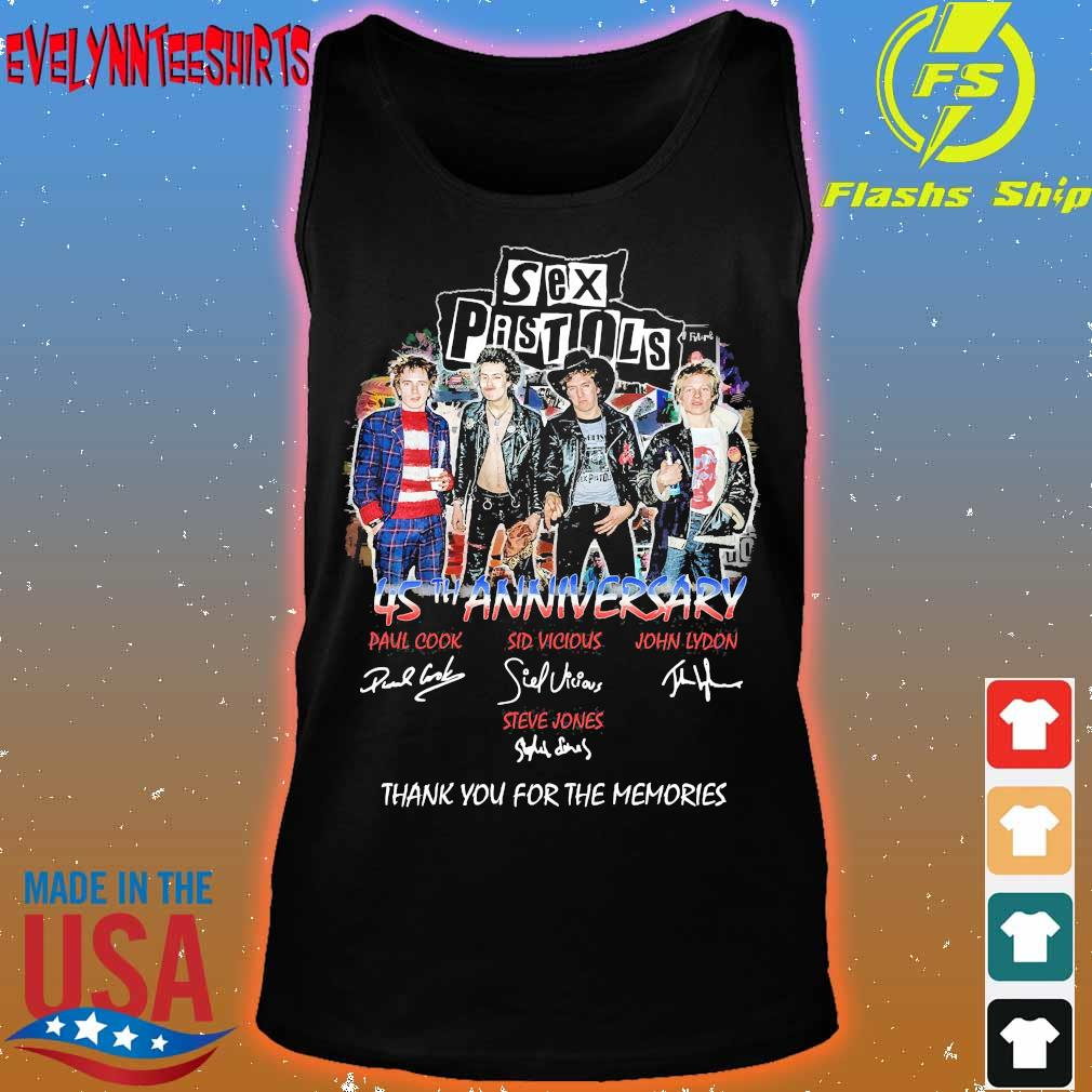 Sex Pistols 45th anniversary You for the memories signatures s tank top