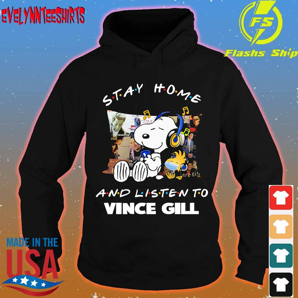 Snoopy and Woodstock Stay home and listen to Vince Gill s hoodie