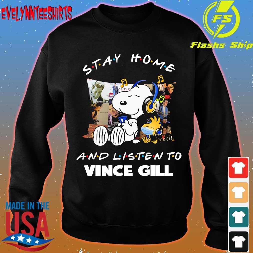 Snoopy and Woodstock Stay home and listen to Vince Gill s sweater