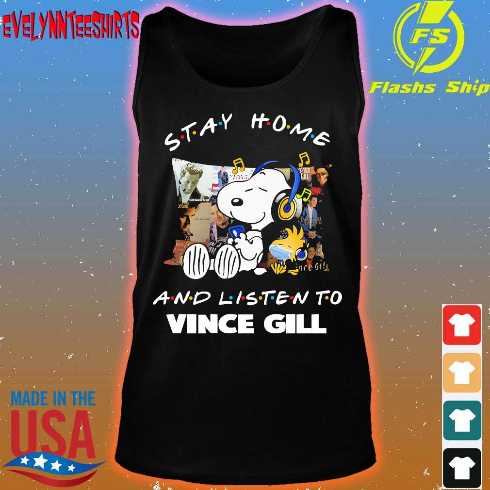 Snoopy and Woodstock Stay home and listen to Vince Gill s tank top