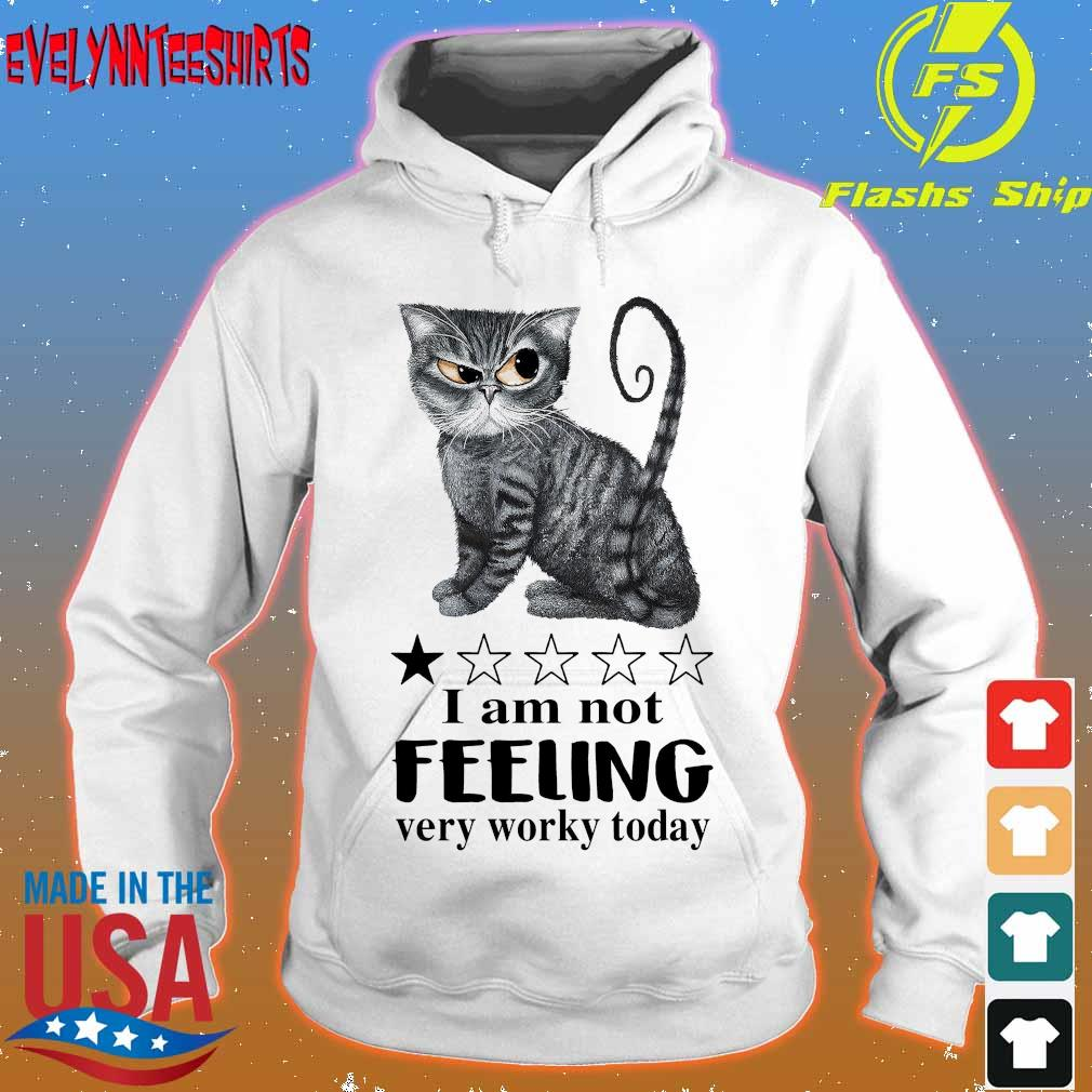 Cat I am not feeling very worky today s hoodie