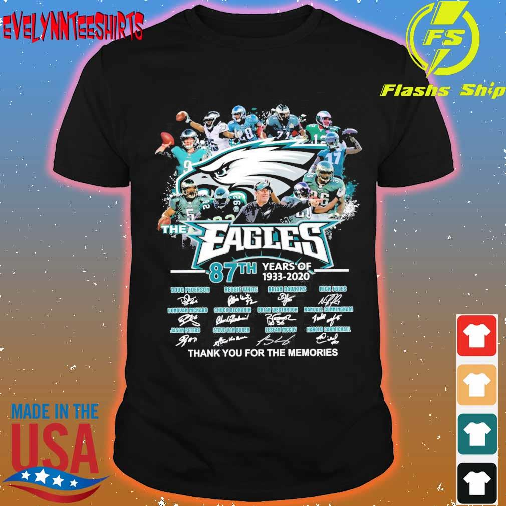 Eagles 87TH years of 1933 2020 signatures shirt