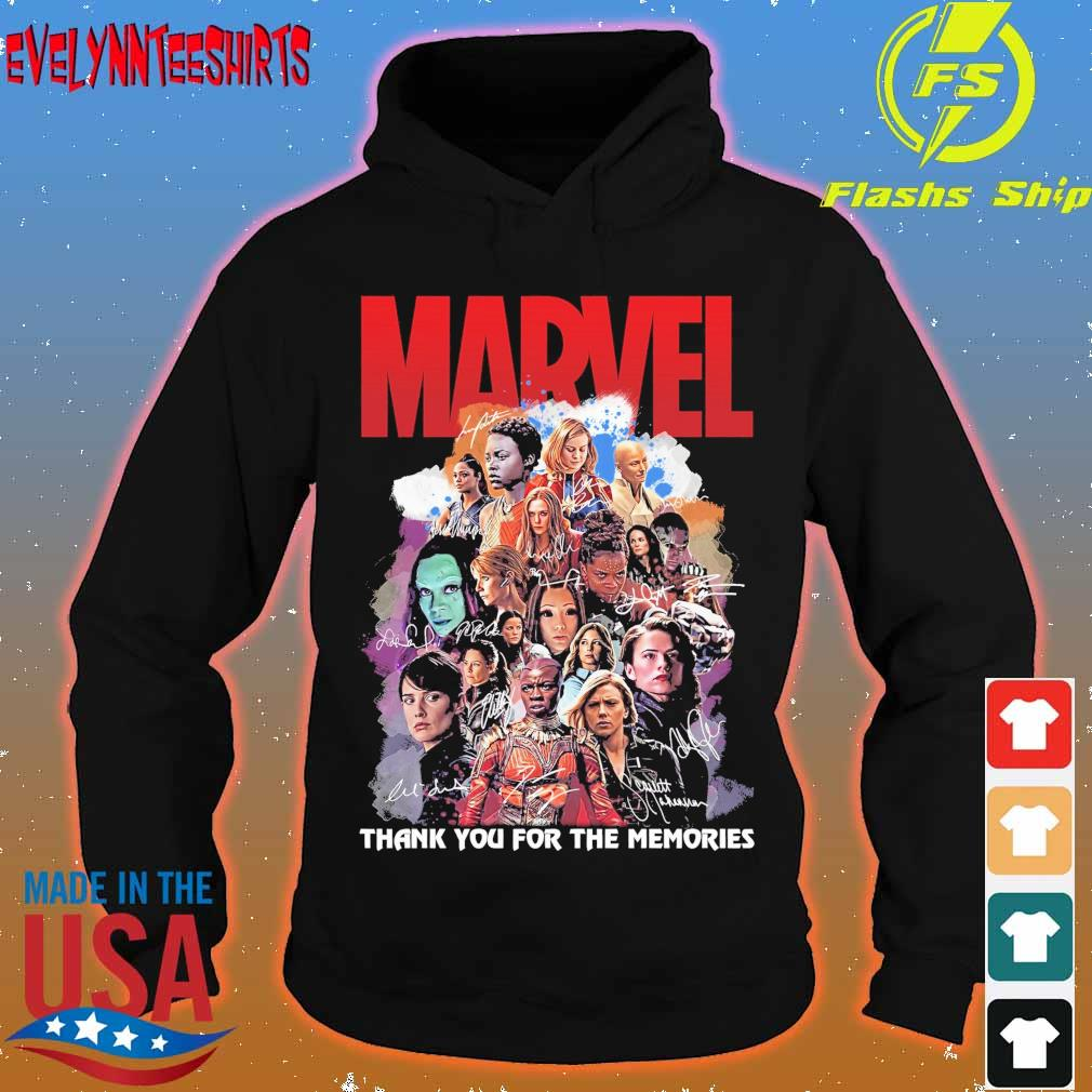 Marvel thank You for the memories signatures s hoodie