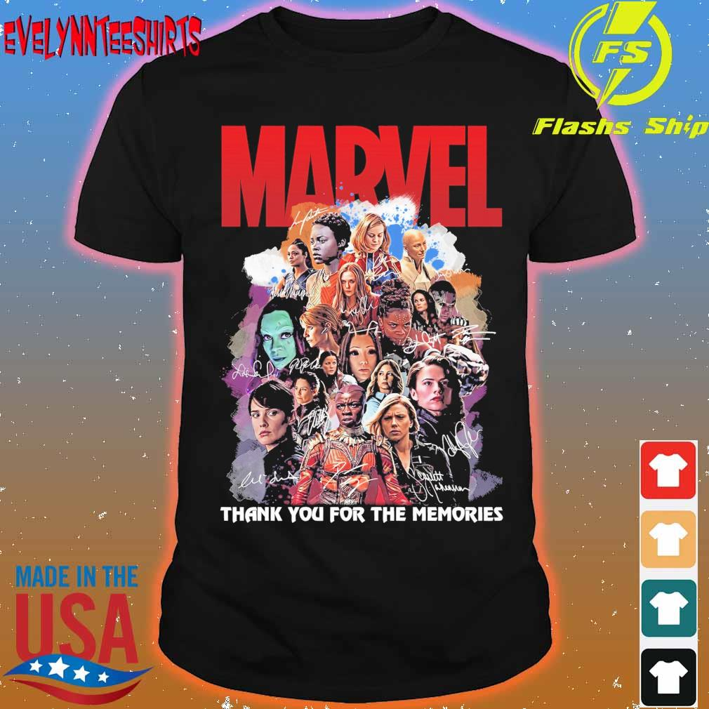 Marvel thank You for the memories signatures shirt