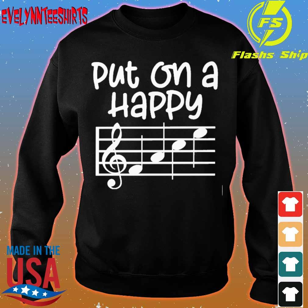 Put on a happy face music s sweater