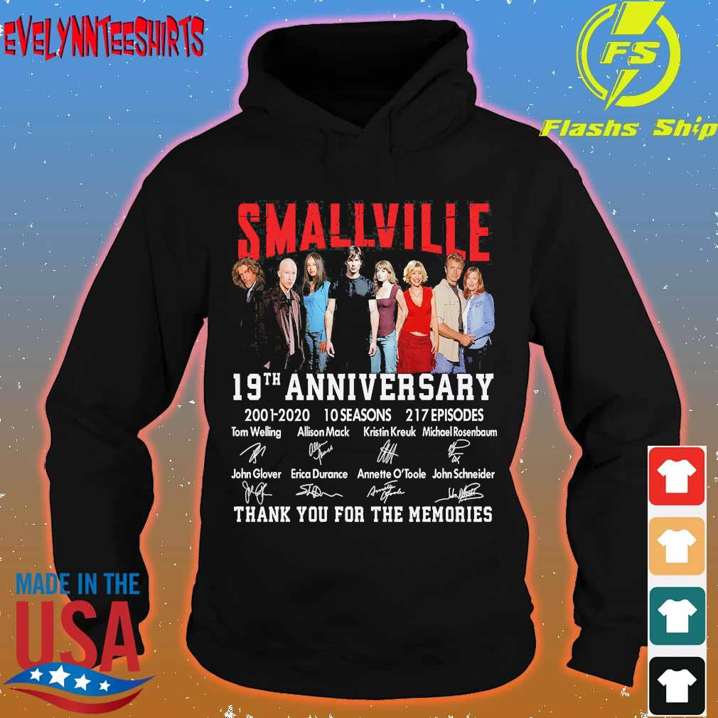 Smallville 19th anniversary 2001 2020 10 seasons 271 Episodes thank You for the memories signatures s hoodie