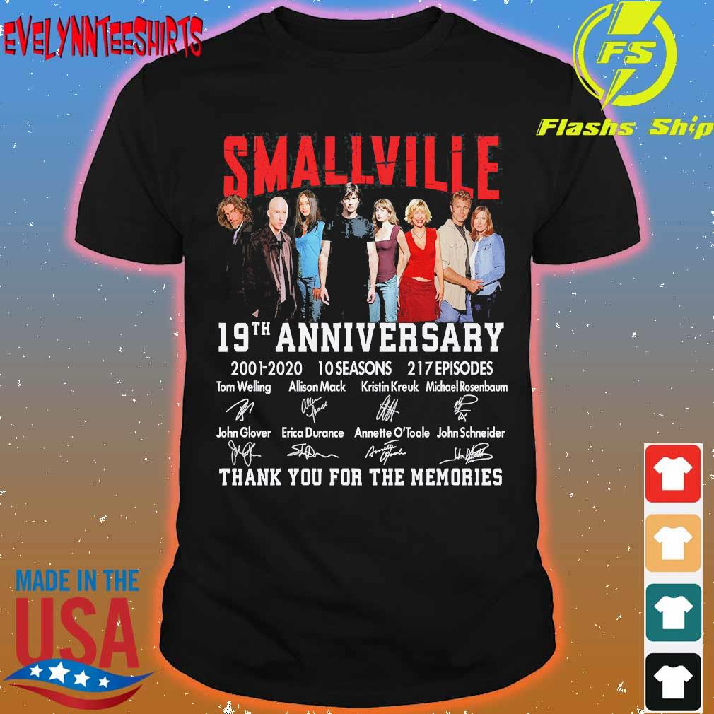 Smallville 19th anniversary 2001 2020 10 seasons 271 Episodes thank You for the memories signatures shirt