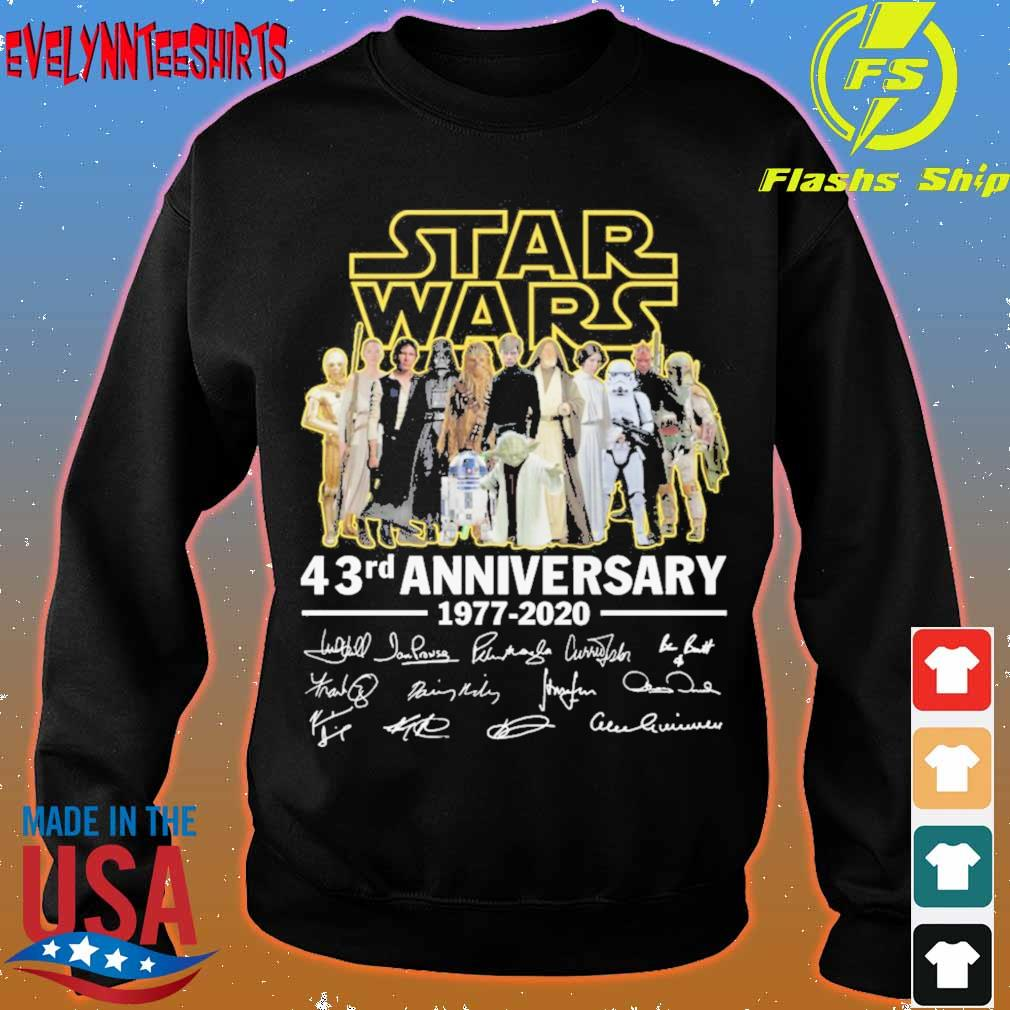 Star Wars 43RD Anniversary 1977 2020 signatures s sweater