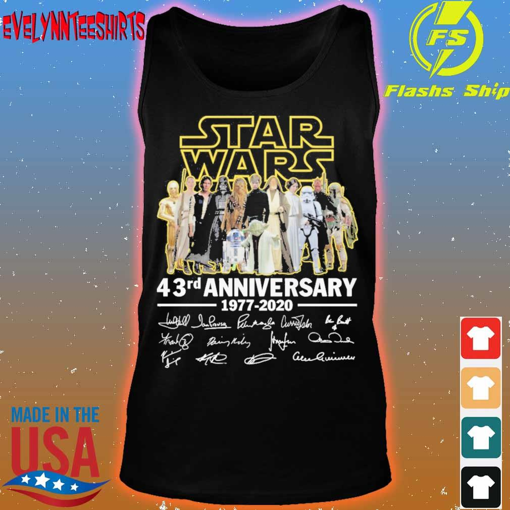 Star Wars 43RD Anniversary 1977 2020 signatures s tank top