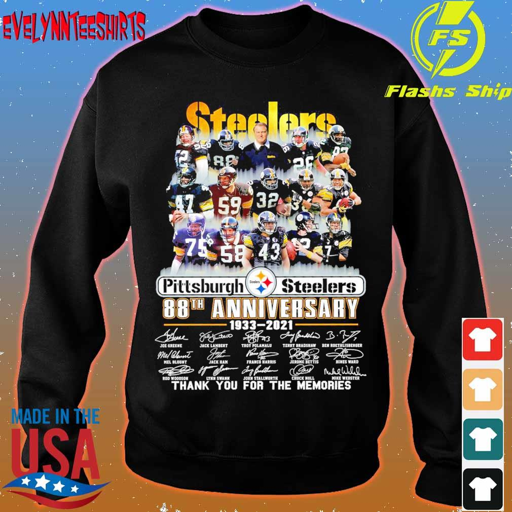 Steelers Pittsburgh Steelers 88TH Anniversary 1933 2021 signatures s sweater