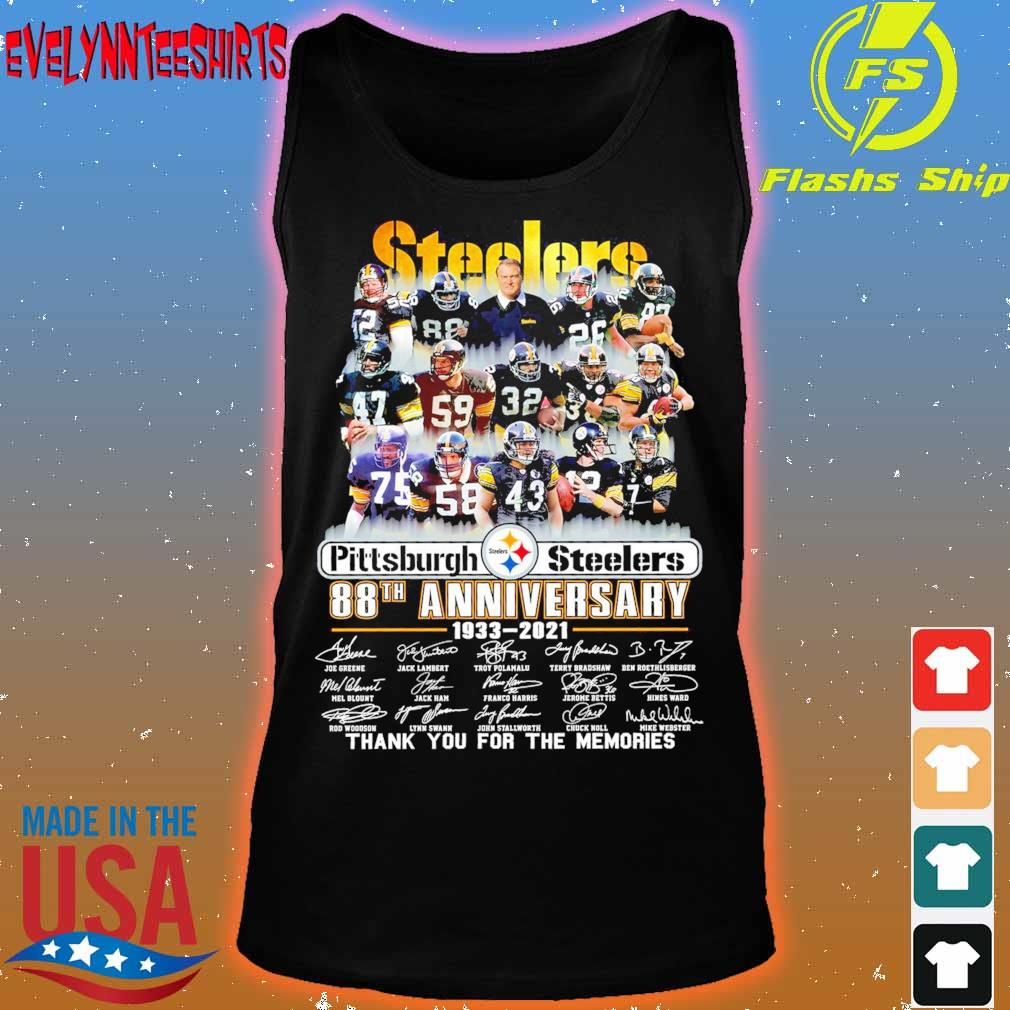 Steelers Pittsburgh Steelers 88TH Anniversary 1933 2021 signatures s tank top