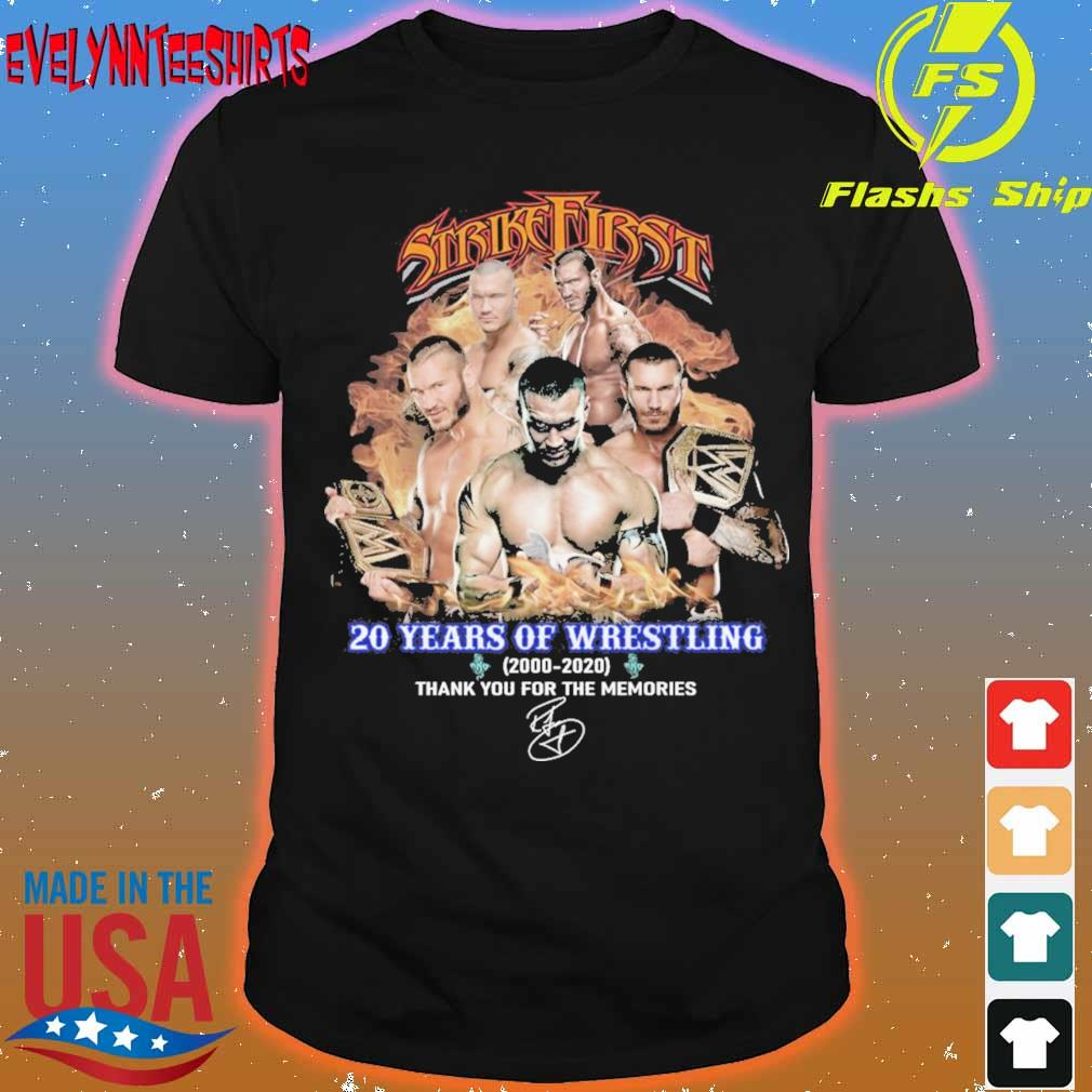 Strike First 20 years of Wrestling 2000 2020 signature shirt