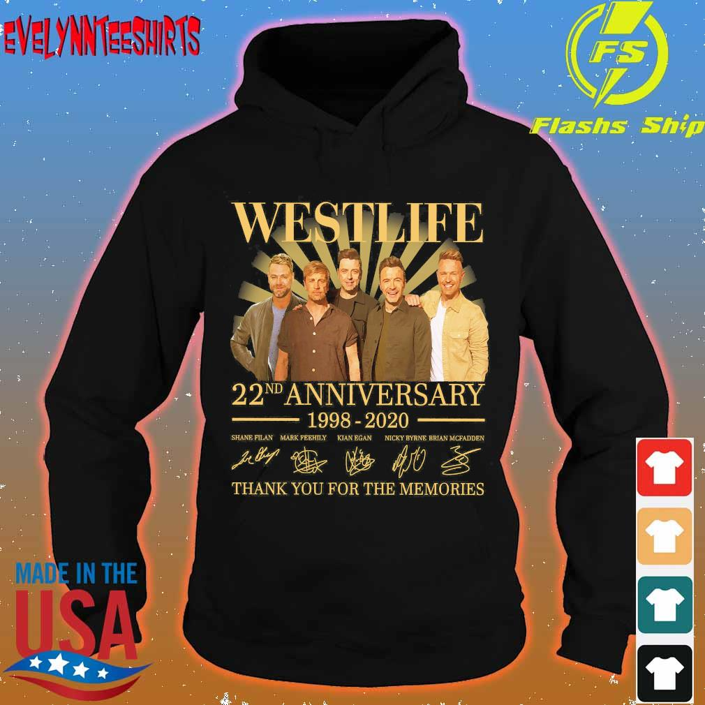 Westlife 22nd anniversary 1998 2020 thank You for the memories signatures s hoodie