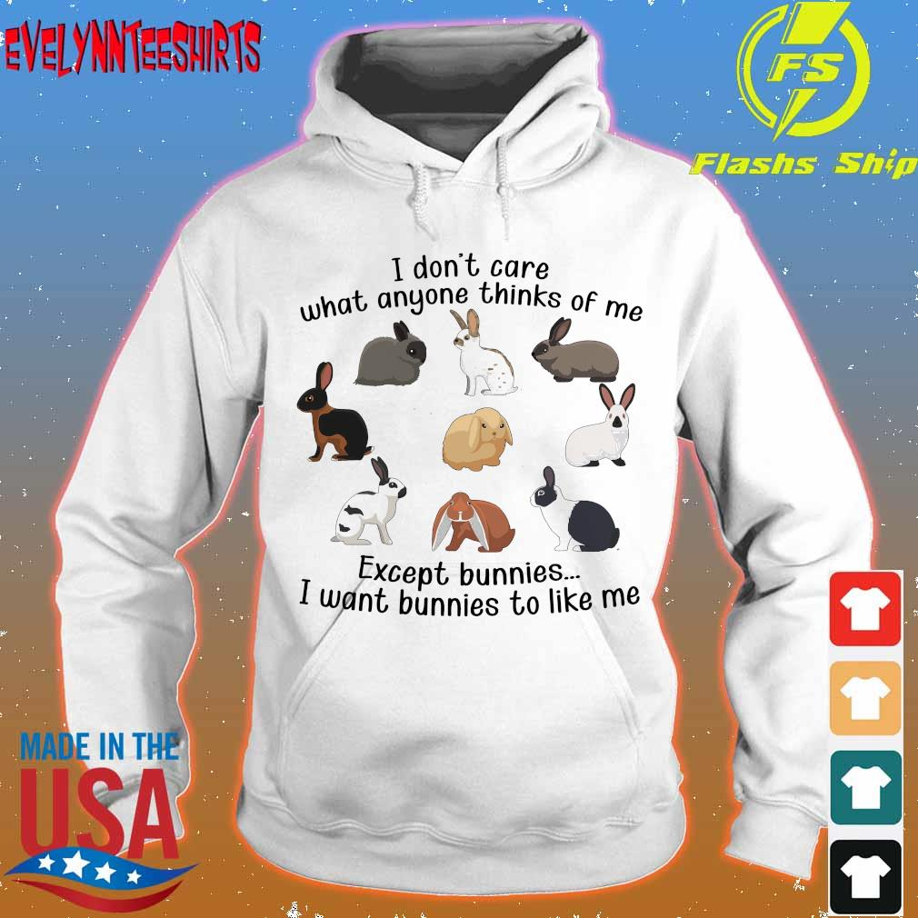 I don't care what anyone thinks of me except bunnies I want bunnies to like me s hoodie