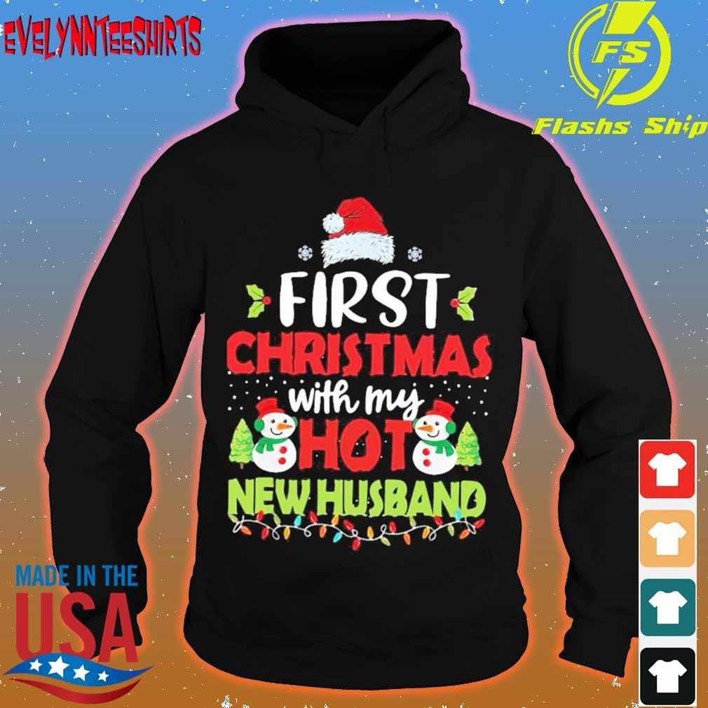 Official First Christmas With My Hot New Husband Shirt hoodie