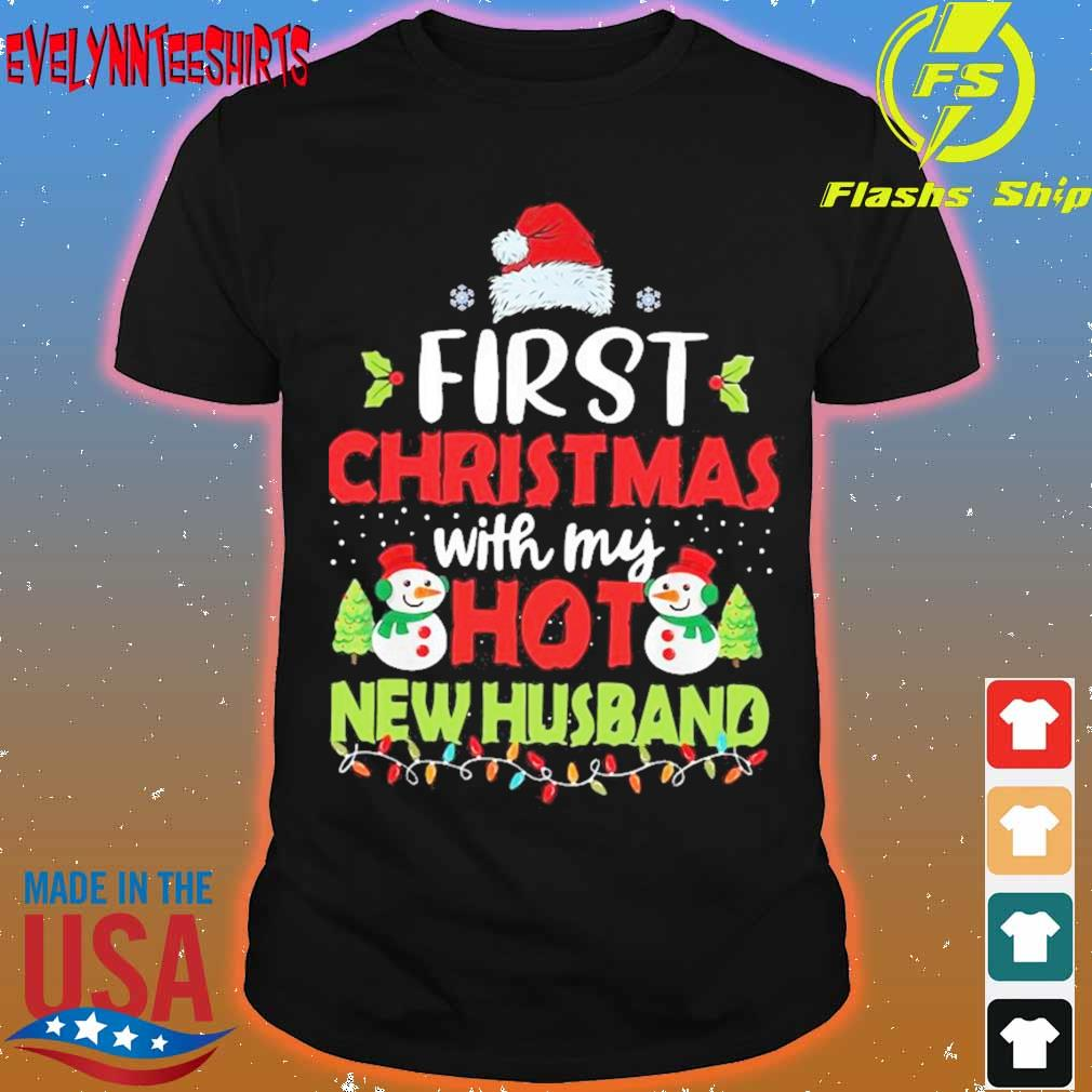 Official First Christmas With My Hot New Husband Shirt