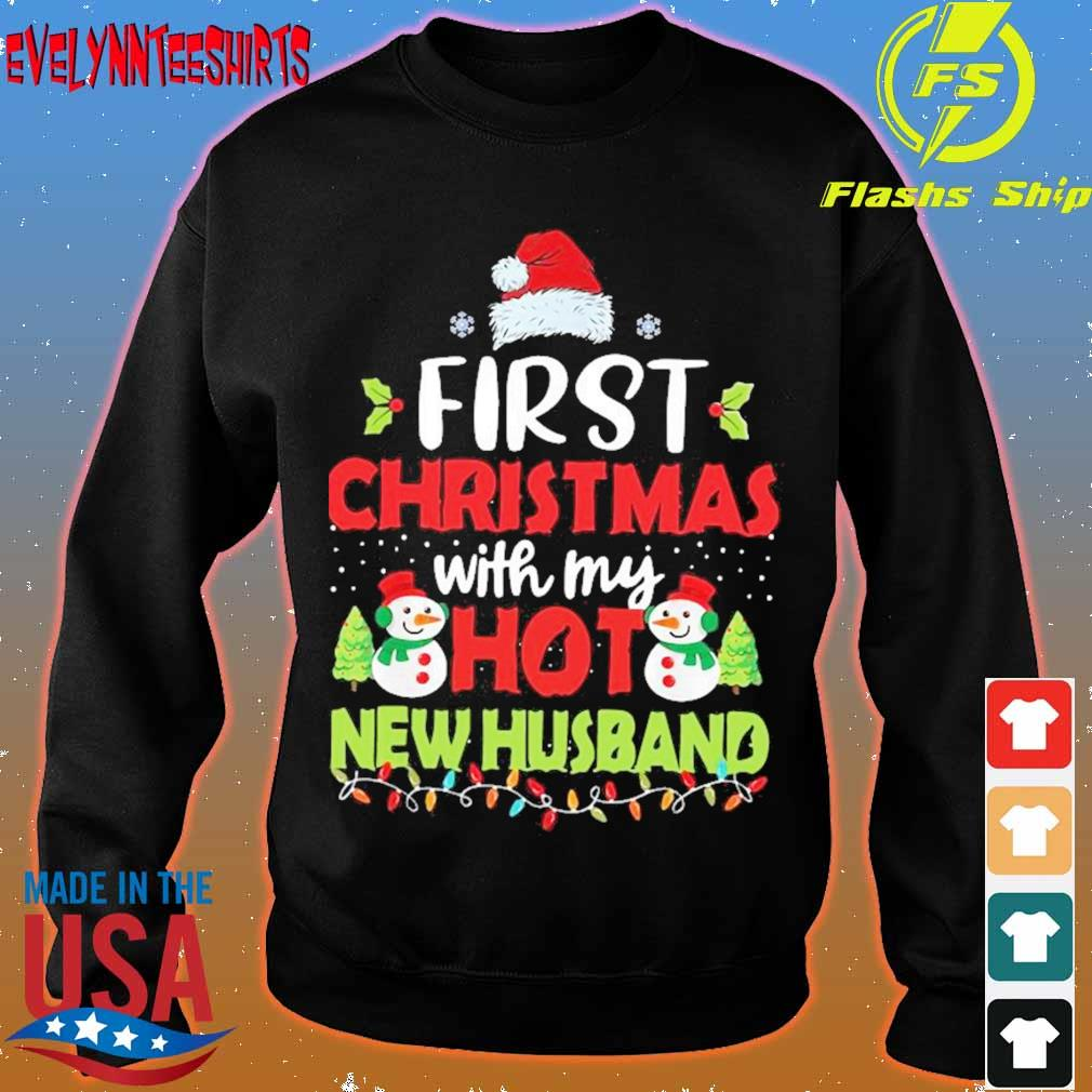 Official First Christmas With My Hot New Husband Shirt sweater