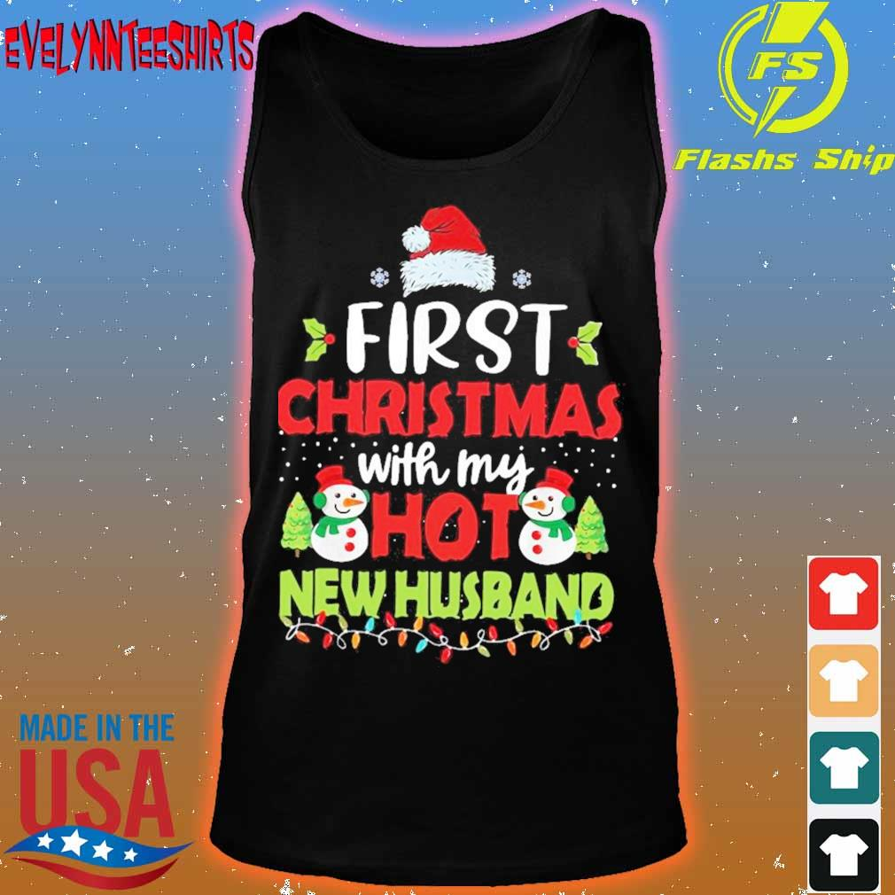 Official First Christmas With My Hot New Husband Shirt tank top