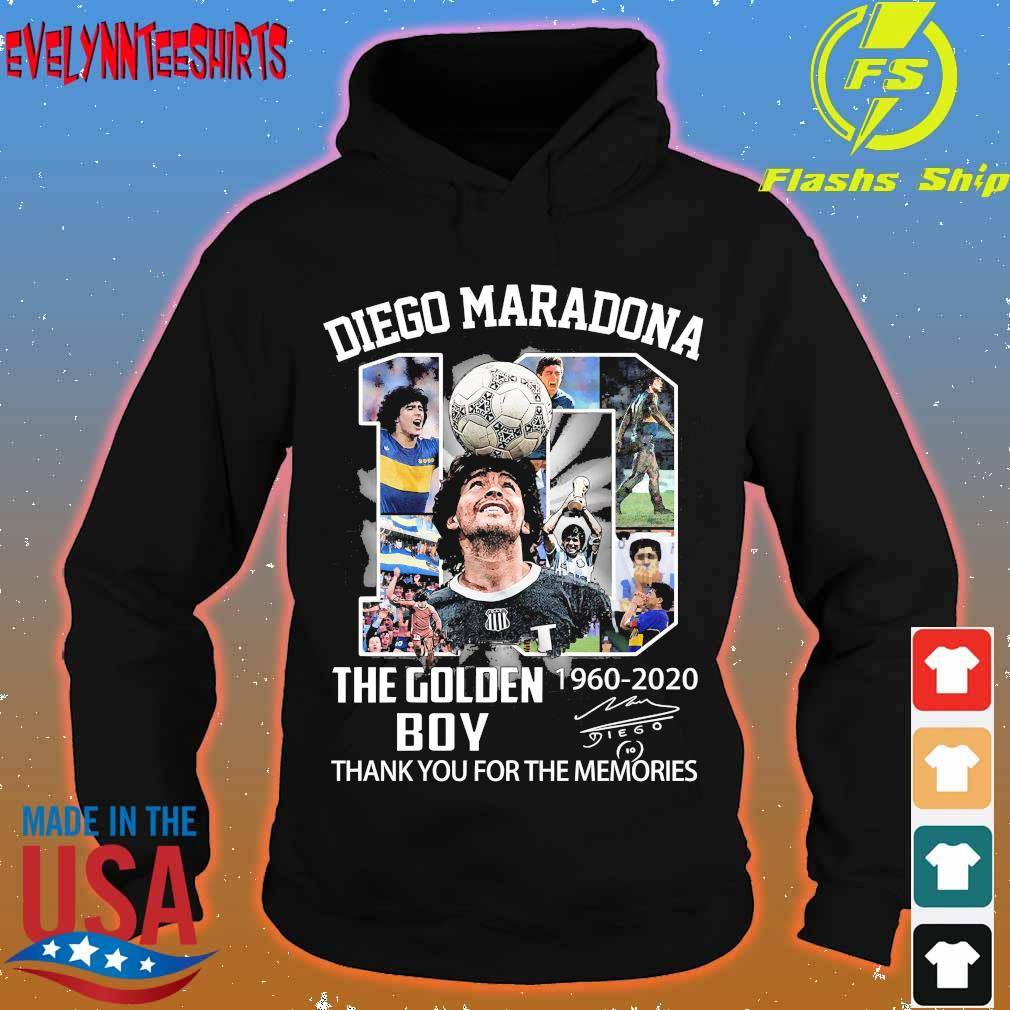 Video Maradona 10 the golden boy 1960 2020 thank You for the memories signature s hoodie